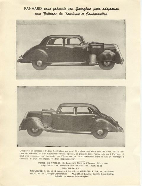 1942 Panhard Dynamic Panhard Gazogene