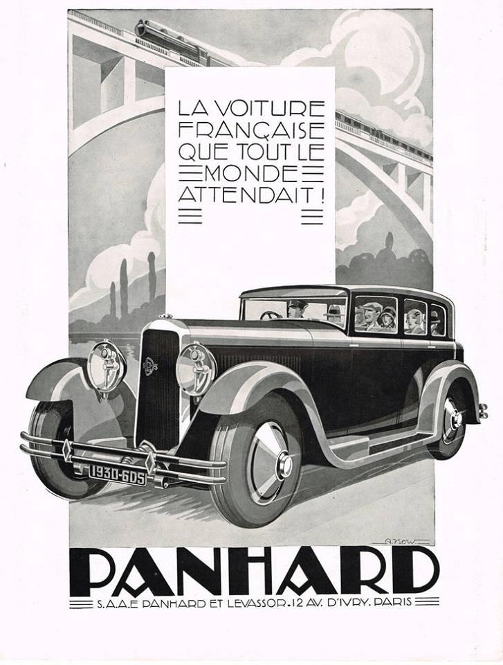 Panhard 6DS 1930 poster