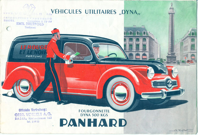 Panhard Dyna X utilitaires 1954
