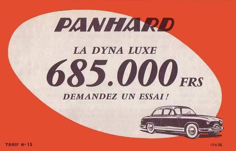 Panhard Dyna Z Prijs