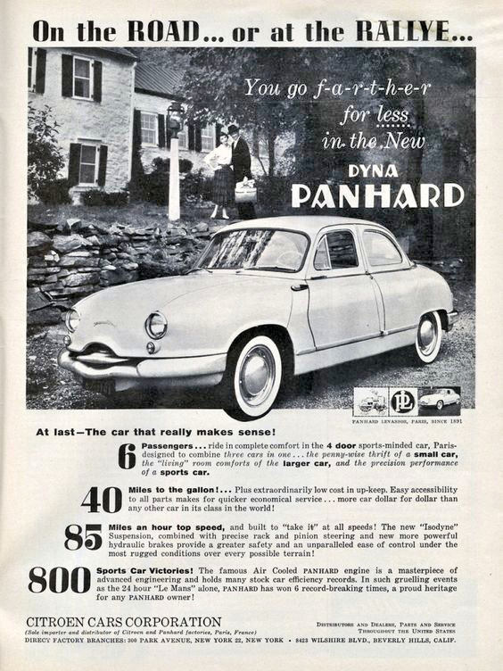 Panhard Dyna Z Road or rallye
