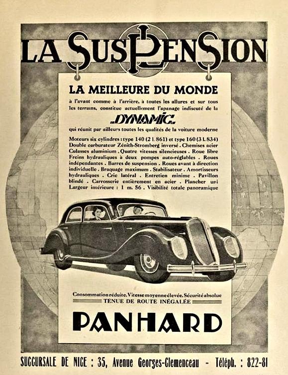 Panhard Dynamic suspension La suspension