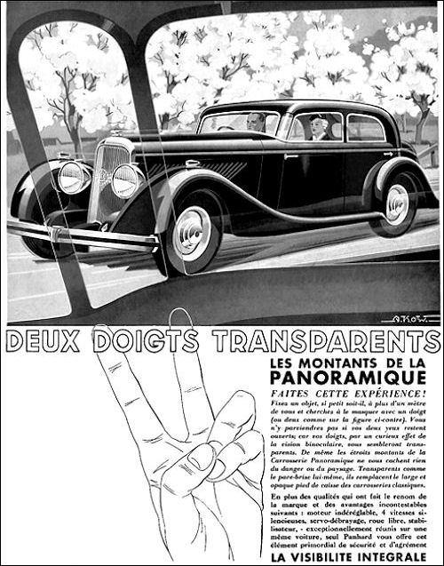 Panhard Panoramique Deux doigts