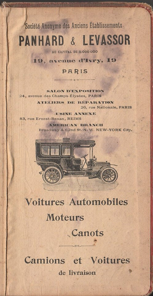 Panhard in Guide Michelin 1908