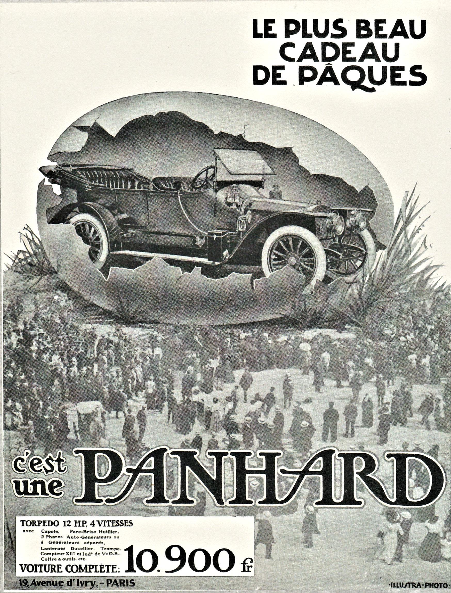Panhard mooiste Paascadeau 1912